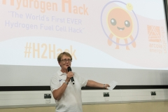 The 'Grand Final' of Arcola Energy Education's week-long 'Hydrogen Hack' event at Ravensbourne College, Greenwich, London